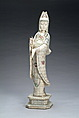 A Chinese bone carved Guan Yin figure