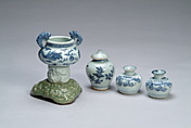 A set of four Chinese blue and white porcelain