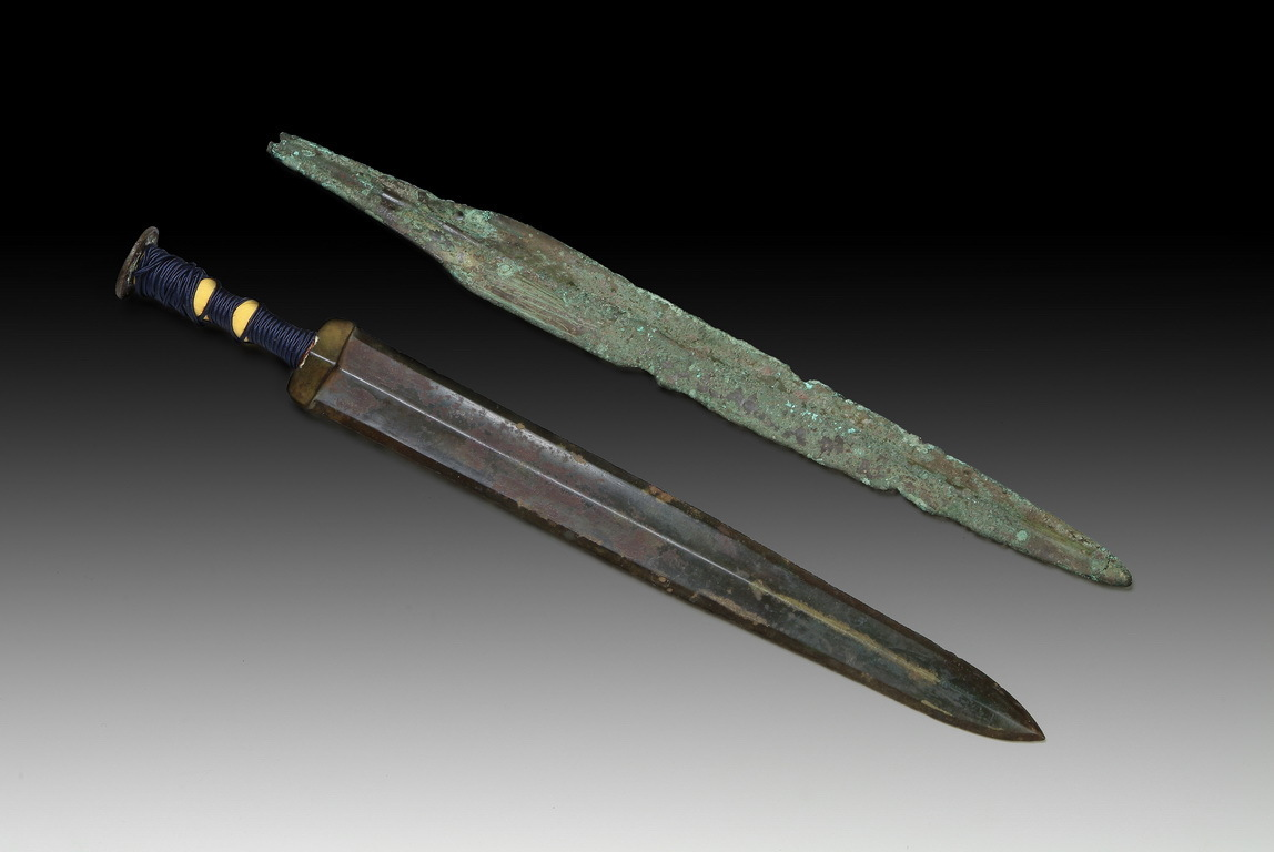 Two Chinese Archaic Bronze Sword
