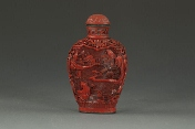 A Chinese cinnabar lacquer snuff bottle