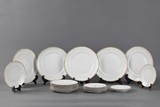 A set of 21 plates