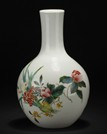 A FAMILLE-ROSE 'FLOWERS' BOTTLE VASE