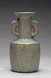 A CHINESE CRACKLEWARE VASE