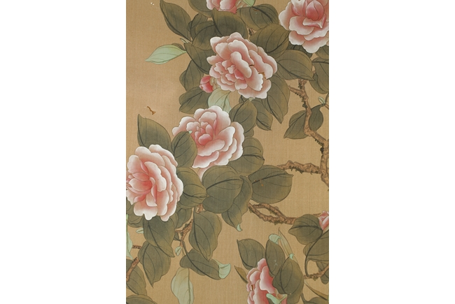 Zheng shoufen a horozontal painting on silk flowers and birds mightylinksfo