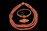 A SET OF ANTIQUE CORAL JEWELRY
