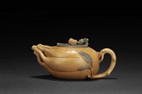 A YELLOW CLAY 'BUDDHA'S HAND' TEAPOT