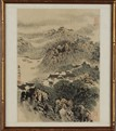 WANG WENZHI: A FRAMED INK ON PAPER PAINTING 'SPRING OF JIANGNAN'