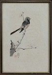 JIANG HANDING: AN INK AND COLOR ON PAPER PAINTING 'BIRD'