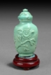 A CARVED TURQUOISE SNUFF BOTTLE