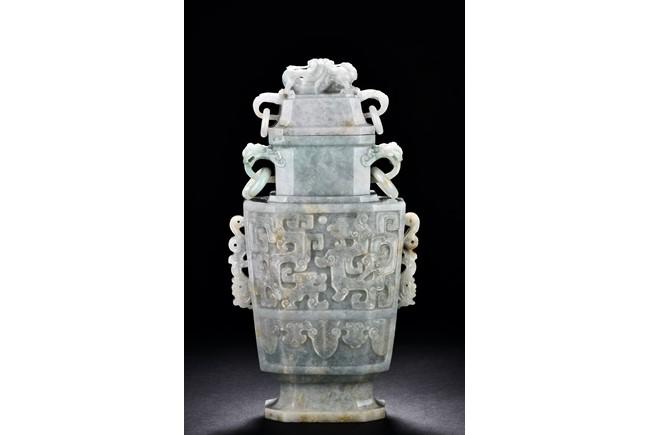 A Large Jadeite Vase