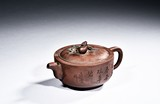 A YIXING ZISHA TEAPOT ATTRIBUTED TO WU YUNSHAN