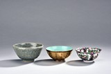 A GROUP OF THREE GLAZED BOWLS