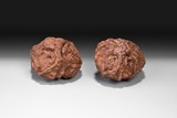 A PAIR OF CHINESE WALNUTS TOGGLE PIECES