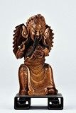 A SHOUSHAN CARVING OF GUANYU