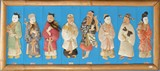 CHINESE FRAMED SILK EMBROIDERY OF EIGHT IMMORTALS