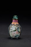 A PORCELAIN 'EROTIC SCENE' SNUFF BOTTLE