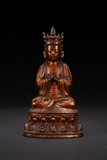 A BRONZE FIGURE OF VAIROCANA
