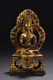 A GILT-BRONZE FIGURE OF AMITABHA