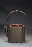 A JAPANESE 'DEER' IRON TEAPOT