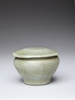 A LONGQUAN CELADON JAR AND COVER