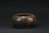 A BLACK AND RUSSET GLAZED BOWL