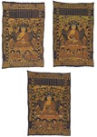 A SET OF THREE CHINESE IMPERIAL THANGKAS