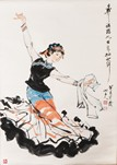 YANG ZIGUANG: INK AND COLOR ON PAPER PAINTING