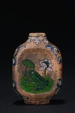 A ZISHA 'FROG AND LOTUS POND' SNUFF BOTTLE