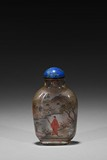 AN INSIDE-PAINTED 'FISHERMAN AND SCHOLAR' GLASS SNUFF BOTTLE