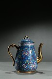 A ZISHA GILT AND ENAMEL 'FOLIATE' TEAPOT