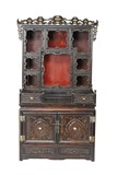 A ROSEWOOD ALTAR CABINET FOR BUDDHA STATUES
