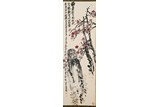 WU CHANGSHUO: COLOR AND INK 'PLUM BLOSSOM' PAINTING