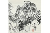 LI KUCHAN: INK ON PAPER 'EGRETS' PAINTING