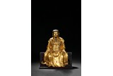 A GILT-BRONZE FIGURE OF ZHENWU EMPEROR