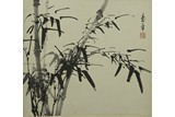 DONG SHOUPING: INK ON PAPER 'BAMBOO' PAINTING