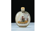 A MOTHER-OF-PEARL EMBELLISHED 'LI BAI' SNUFF BOTTLE