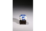 A BLUE AND WHITE 'PHOENIX AND DRAGON' PASTE BOX