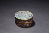 A GILT-BRONZE CLOISONNE ENAMEL COVERED BOX