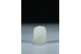 A WHITE JADE 'CHILONG' SEAL