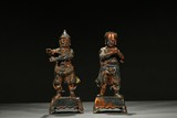 A PAIR OF GILT-PAINTED BRONZE FIGURES