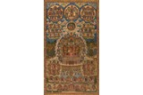 AN EMBROIDERED 'EMPEROR IN BUDDHA'S ORNAMENTS' THANGKA
