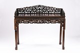 A ZITAN OR HARDWOOD CARVED DRESSING TABLE