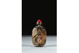 AN INSIDE-PAINTED GLASS 'EROTIC SCENE' SNUFF BOTTLE