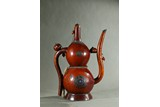 A LARGE DOUBLE GOURD GEMS INLAID EWER