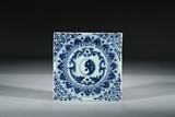 A BLUE AND WHITE 'BAGUA' PANEL