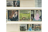 LIN FENGMIAN: INK AND COLOR 'BEAUTIES AND LANDSCAPE' HANDSCROLL