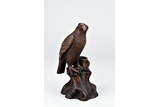A CLAY FIGURE OF EAGLE