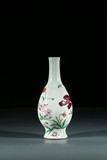 A CHINESE ENAMELLED 'FLOWERS' VASE