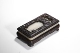 A WHITE JADE RECTANGULAR INKSTONE