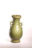 A CHINESE LONGQUAN CELADON MOULDED VASE